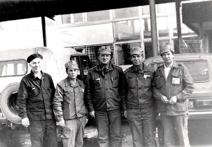 Cлева направо Павкин, Гревцов В.Г., Колдин В.С., Савинов Ю.М