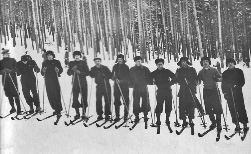 Лыжные соревнования среди воинских частей, 1940-е гг.
