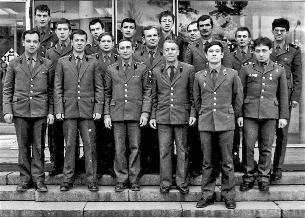 Коллектив военного оркестра, 1980-е гг
