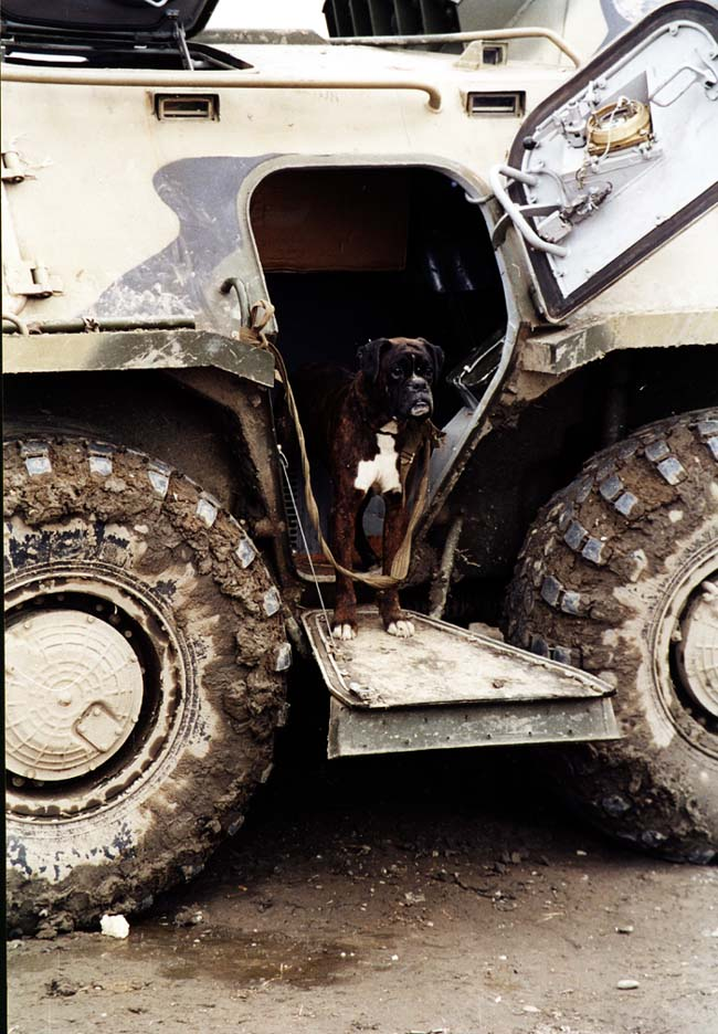 Охрана обеспечена. Район Ханкалы, март 2003 года.