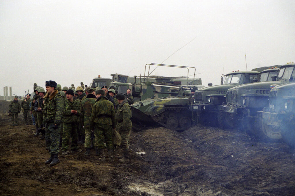 Вид на чеченский асфальт. Ханкала.