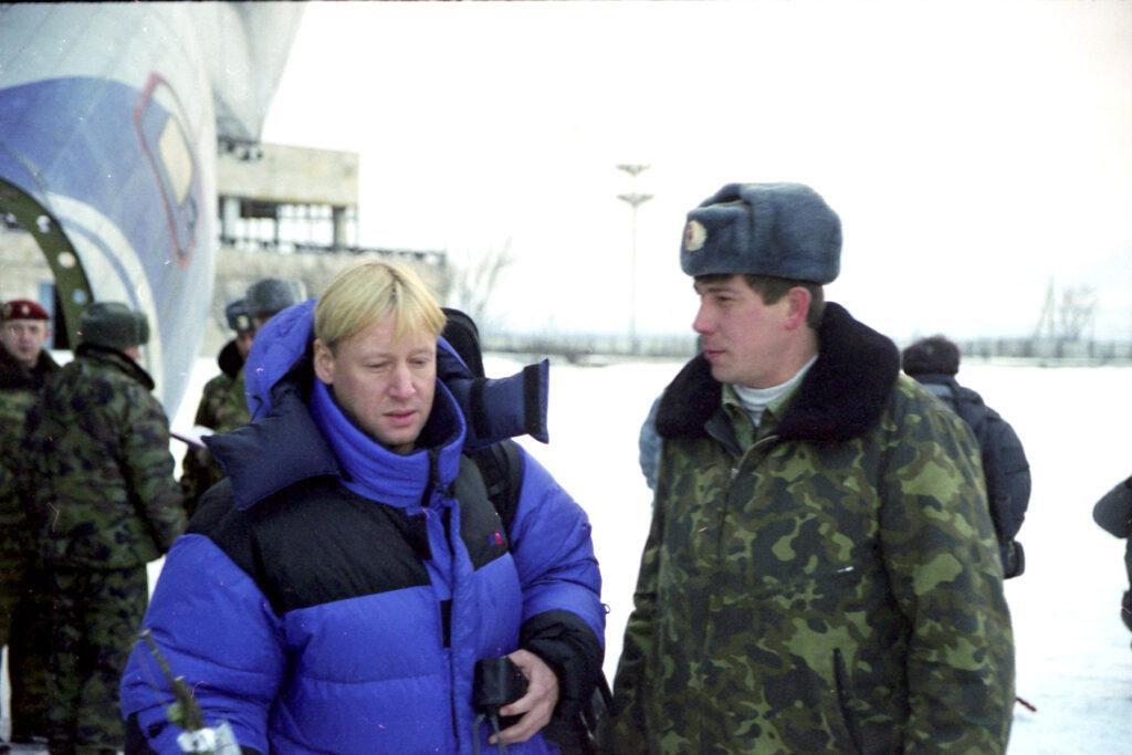Вместе с Харатьяном. Грозный - северный. Февраль 2002 г.